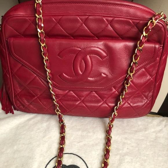 85e7e553171d CHANEL Bags   Vintage Camera Style With Tassel No Bundle   Poshmark
